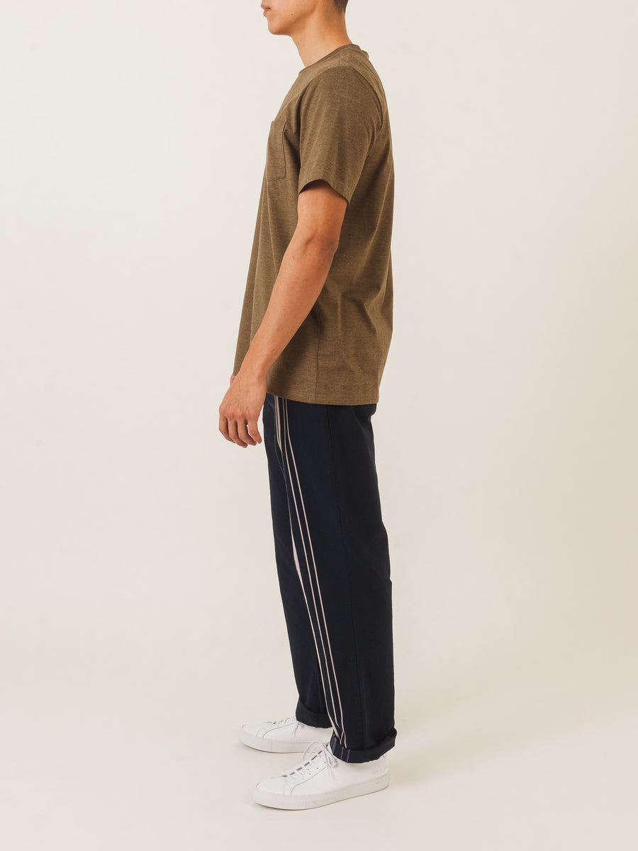 a.p.c.-Military-Khaki-Road-T-Shirt-on-body