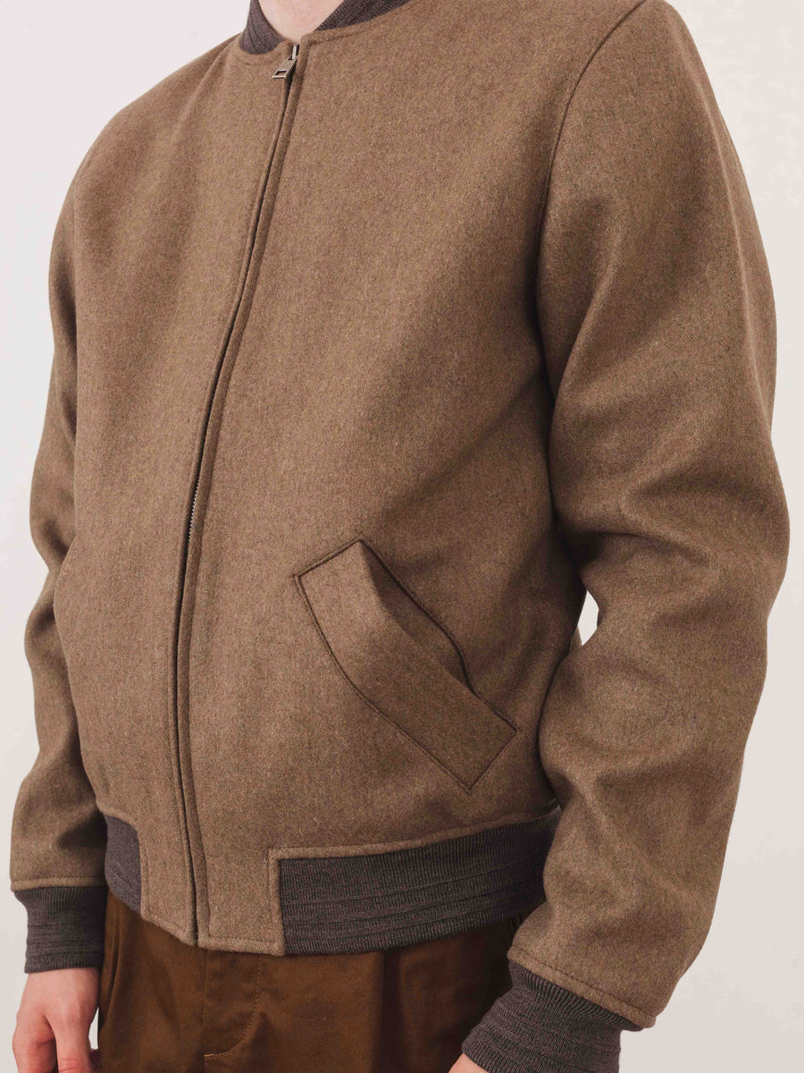 a.p.c.-Taupe-Gaston-Jacket-on-body