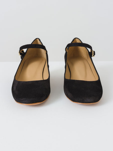 Black Suede Victoria Mary Jane