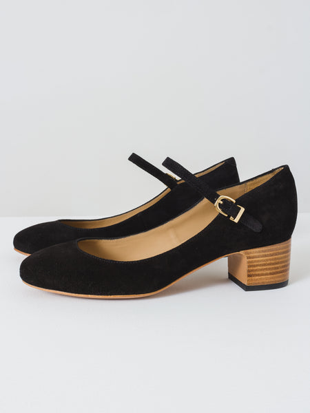 a.p.c.- victoria-mary-jane-black-suede