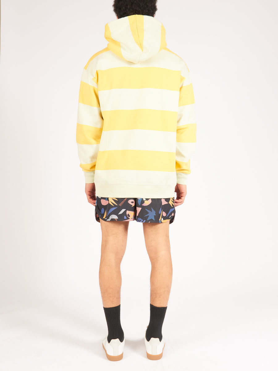 Lemon Yellow Farrin Stripe Sweatshirt