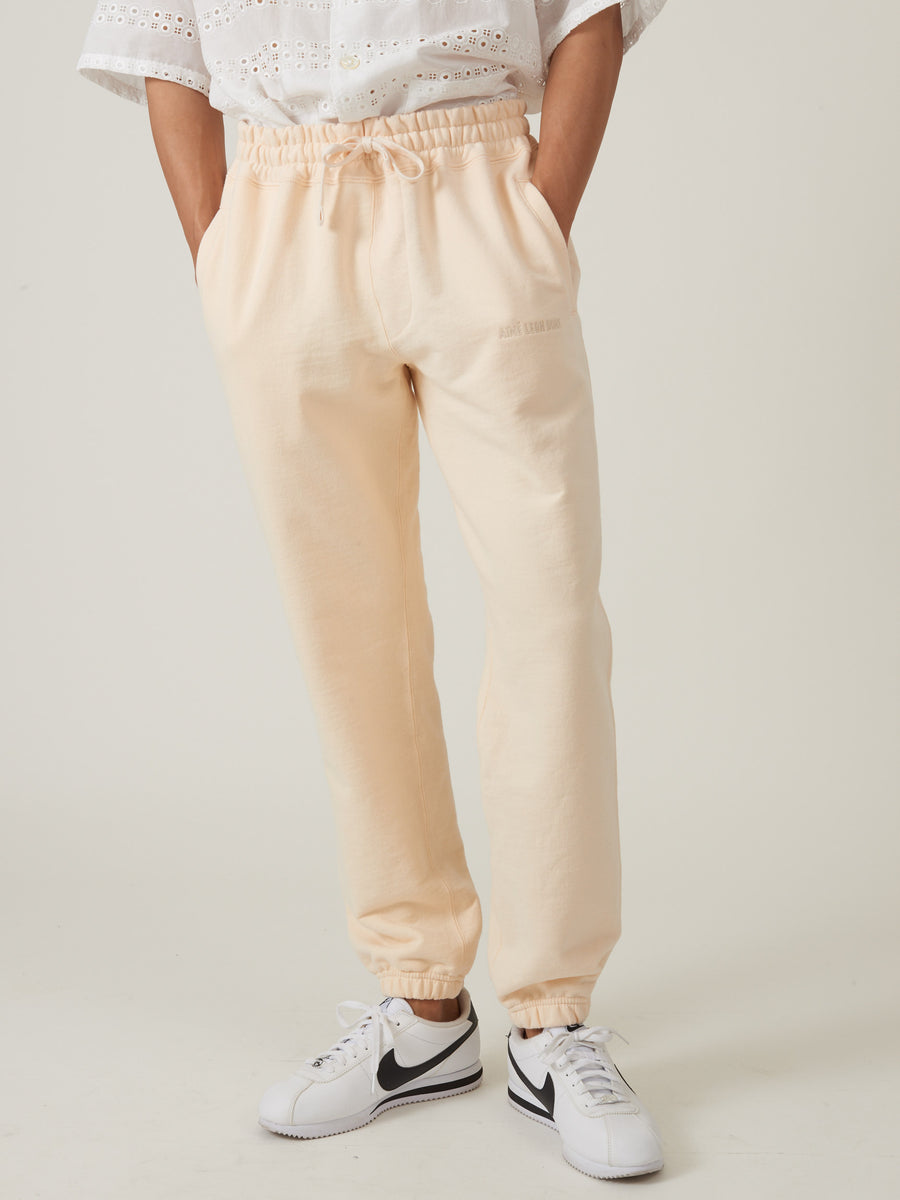aimé-leon-dore-Custard-French-Terry-Sweatpants-on-body
