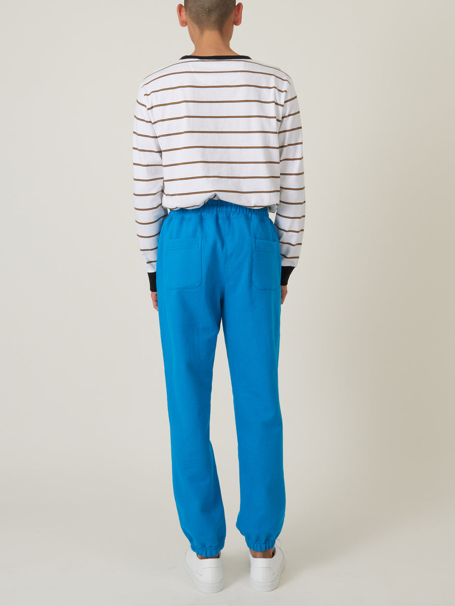 aimé-leon-dore-Navigate-Blue-French-Terry-Sweatpants-on-body