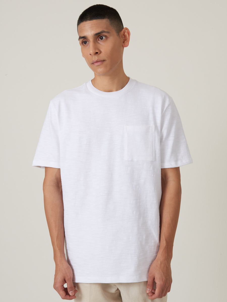 aimé-leon-dore-White-S/S-Slub-Tee-on-body
