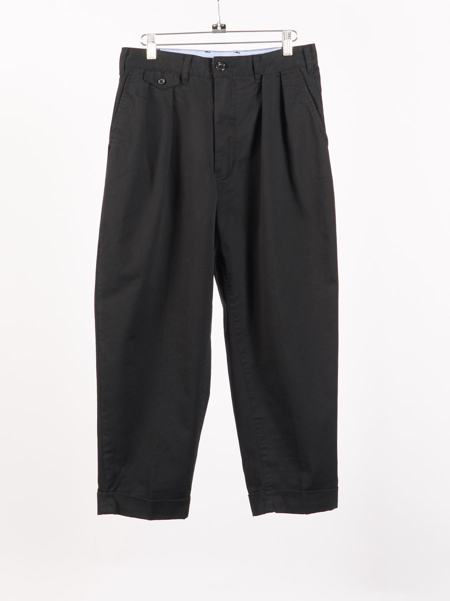 beams-plus-Black-2Pleats-Chino