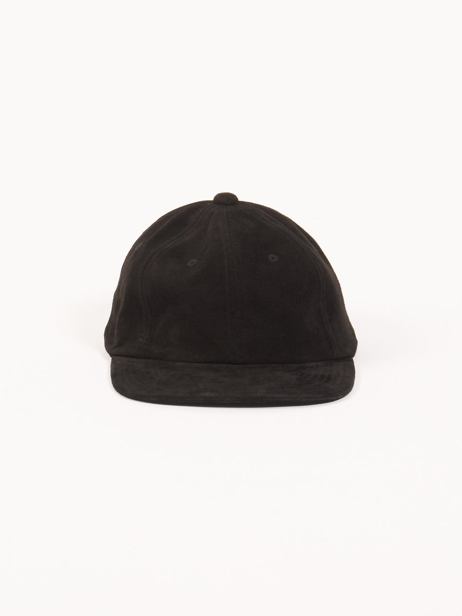 beams-plus-Black-6-Panel-Suede-Cap