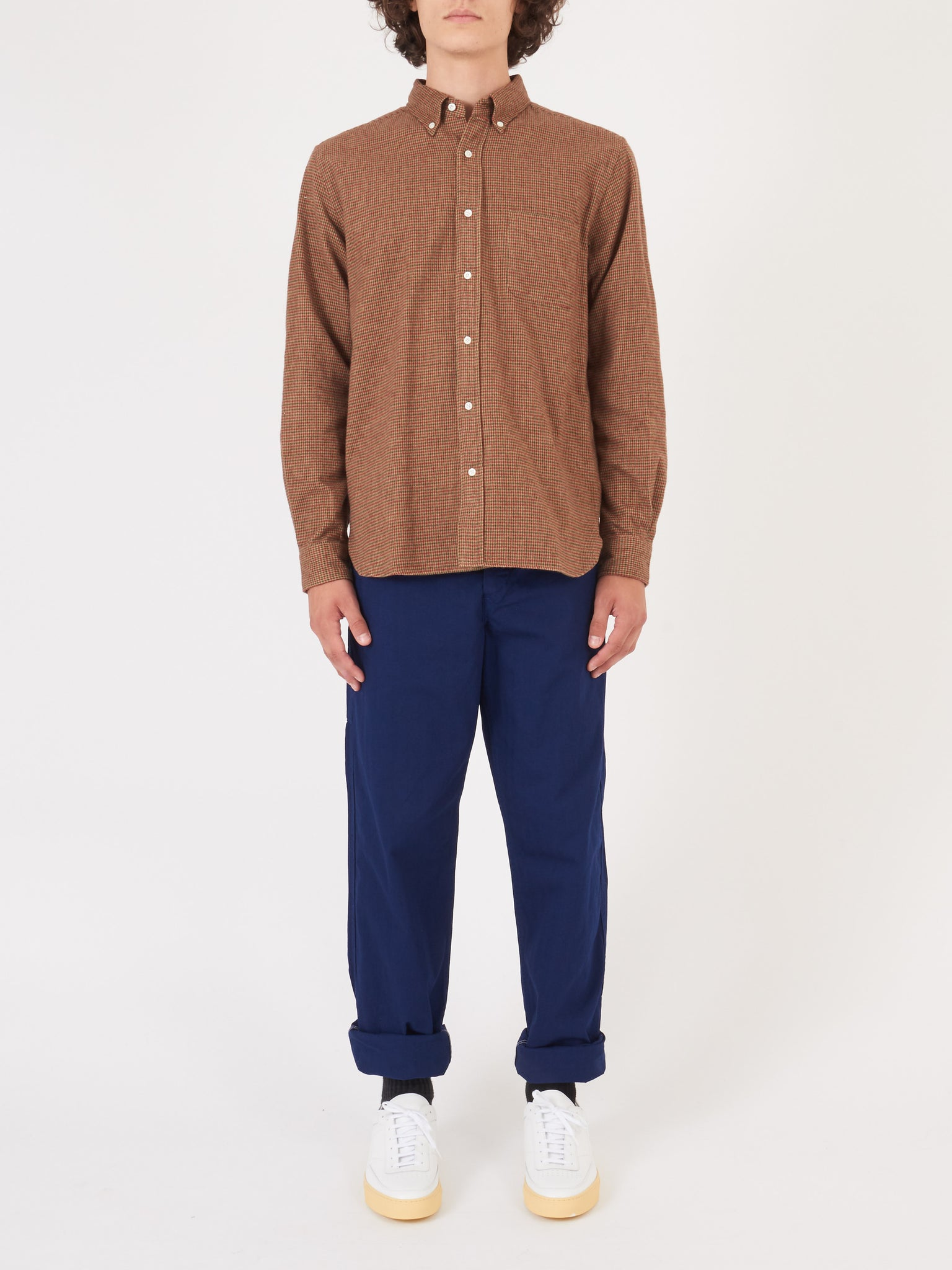 Brown Houndstooth Shirt