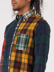 beams-plus-Crazy-Shaggy-Tartan-Shirt-on-body