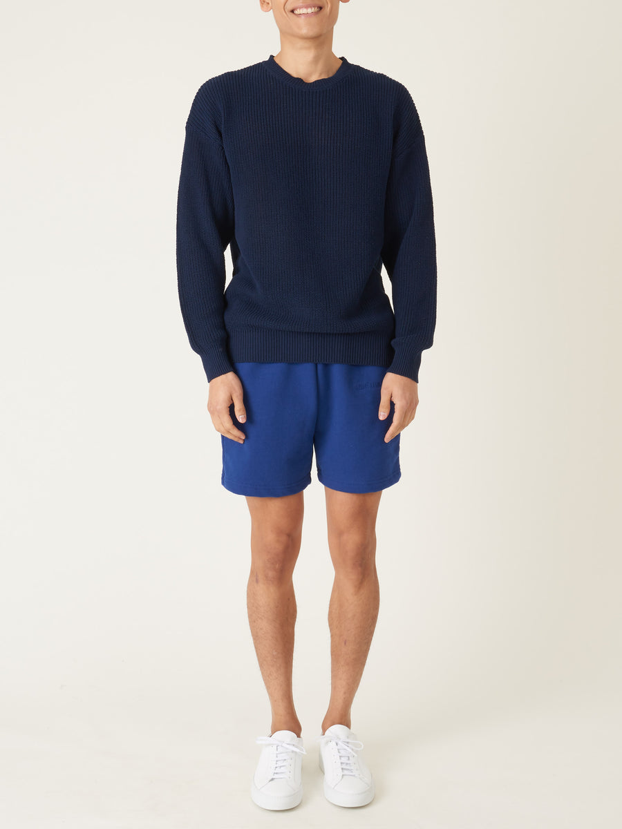beams-plus-Navy-Rib-Crew-Sweater-on-body