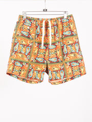 beams-plus-Orange-Batik-Beach-Shorts