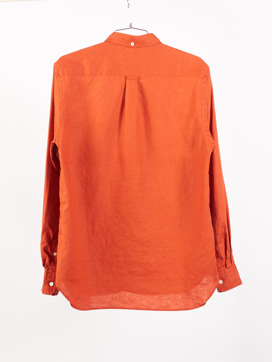 beams-plus-Orange-Linen-Button-Down