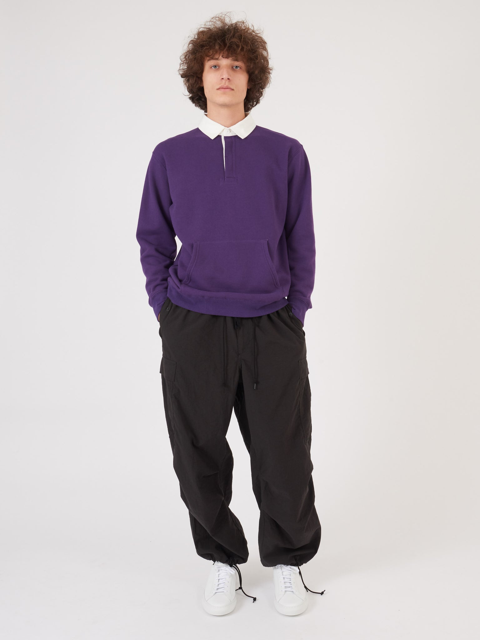 Purple L/S Rugby Polo