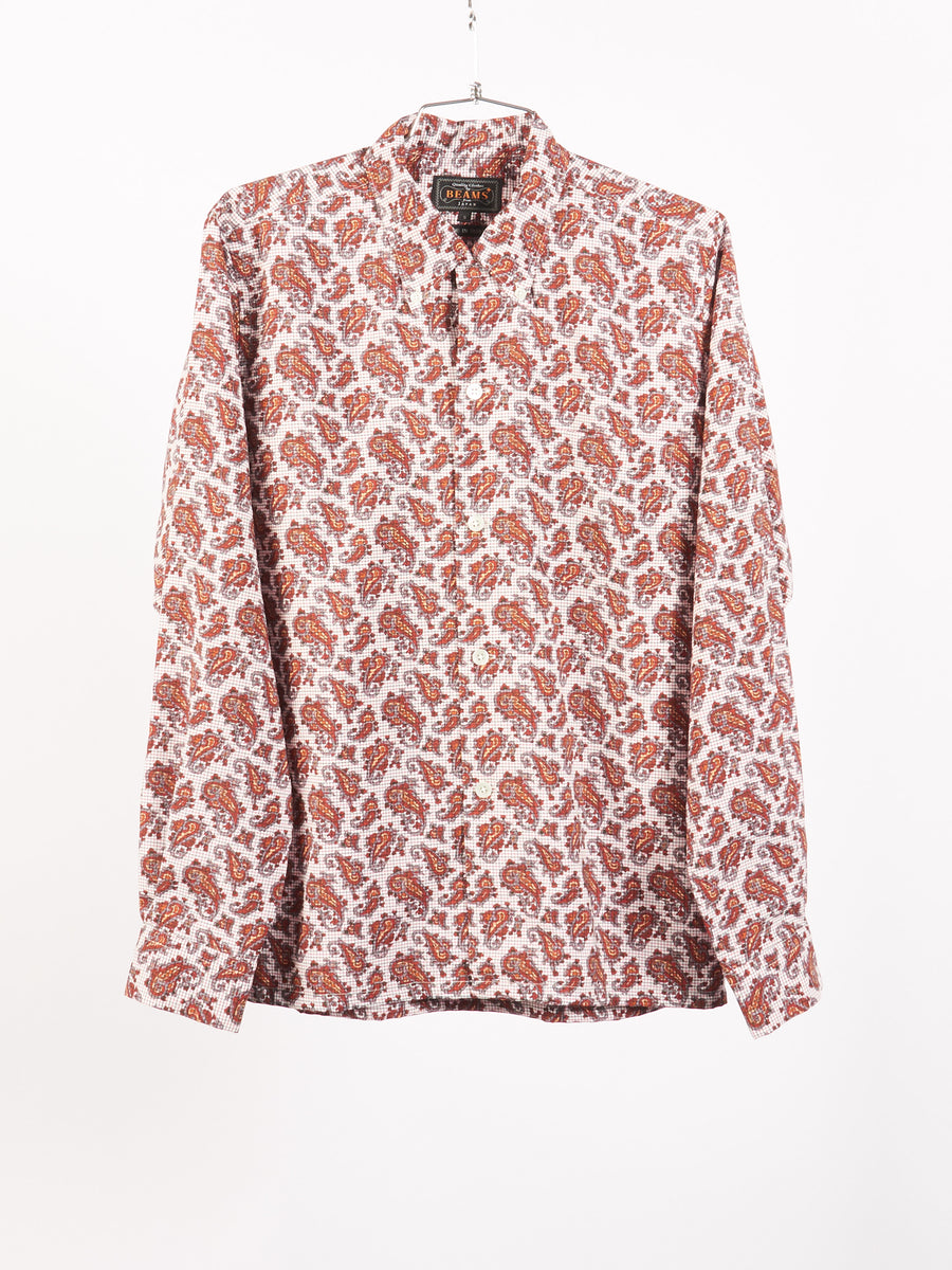 beams-plus-Red-Paisley-Button-Down