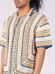 bode-Spring-Multi-S/S-Crochet-Overshirt-on-body