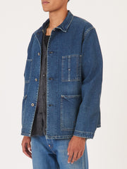 Medium Distress 40's Denim Chore Jacket