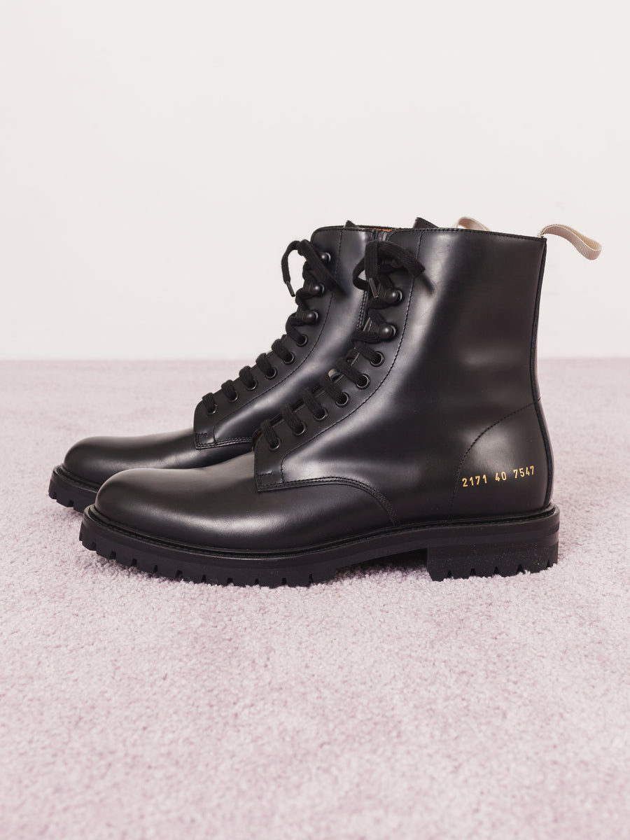 common-projects-Black-Combat-W/Lug-Sole