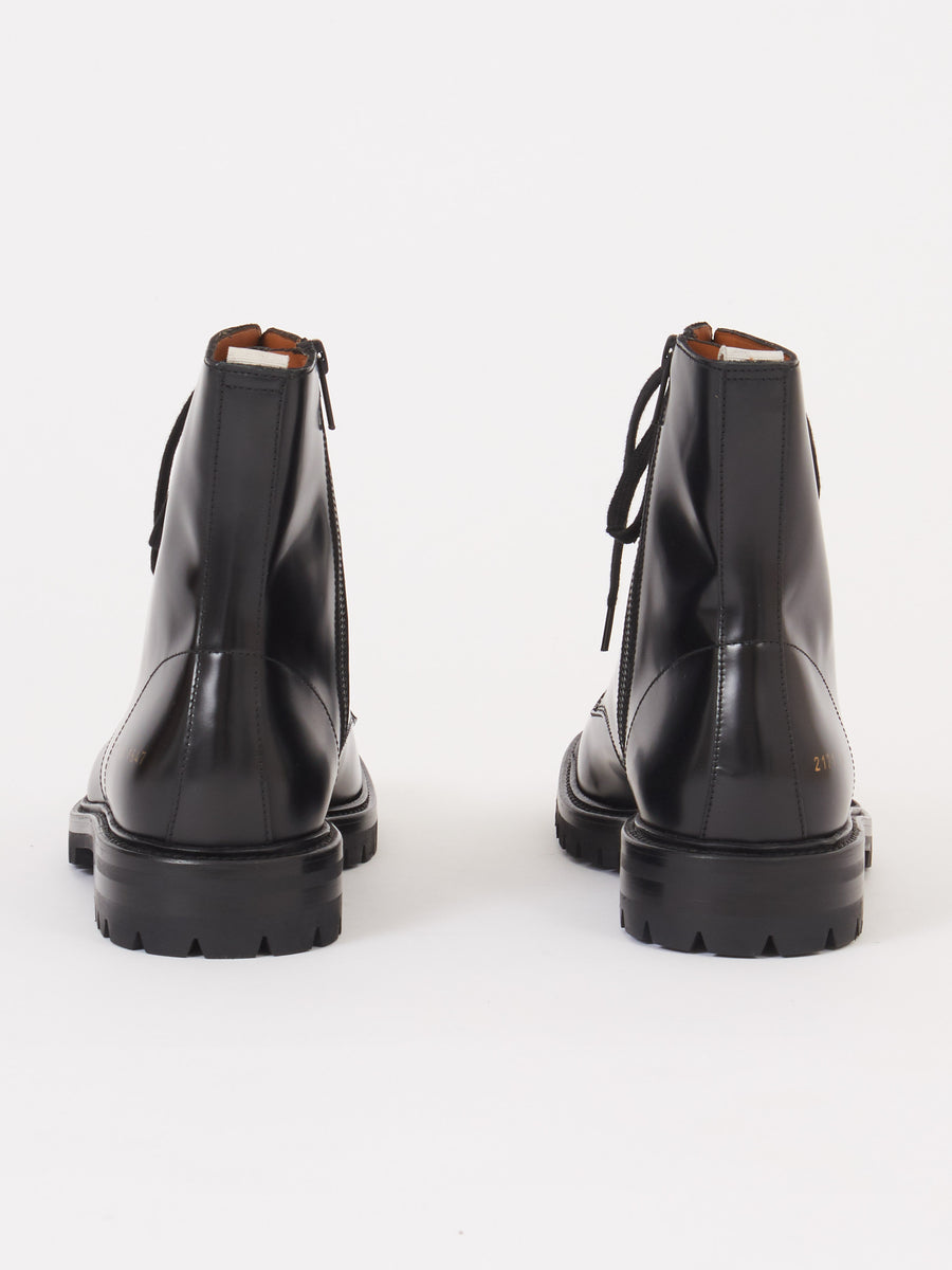 common-projects-Black-Lug-Sole-Combat-Boot