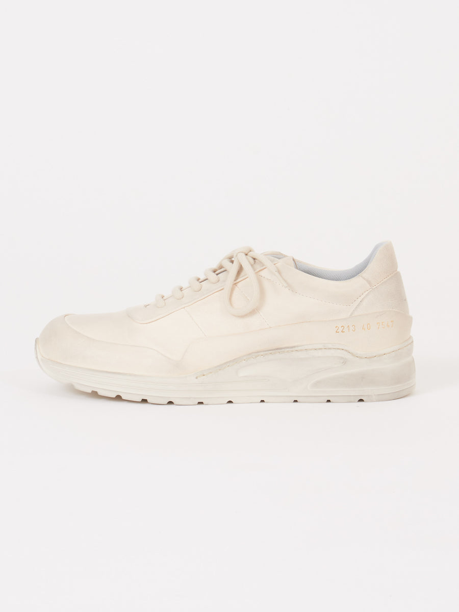 common-projects-Dirty-White-Leather-Cross-Trainer