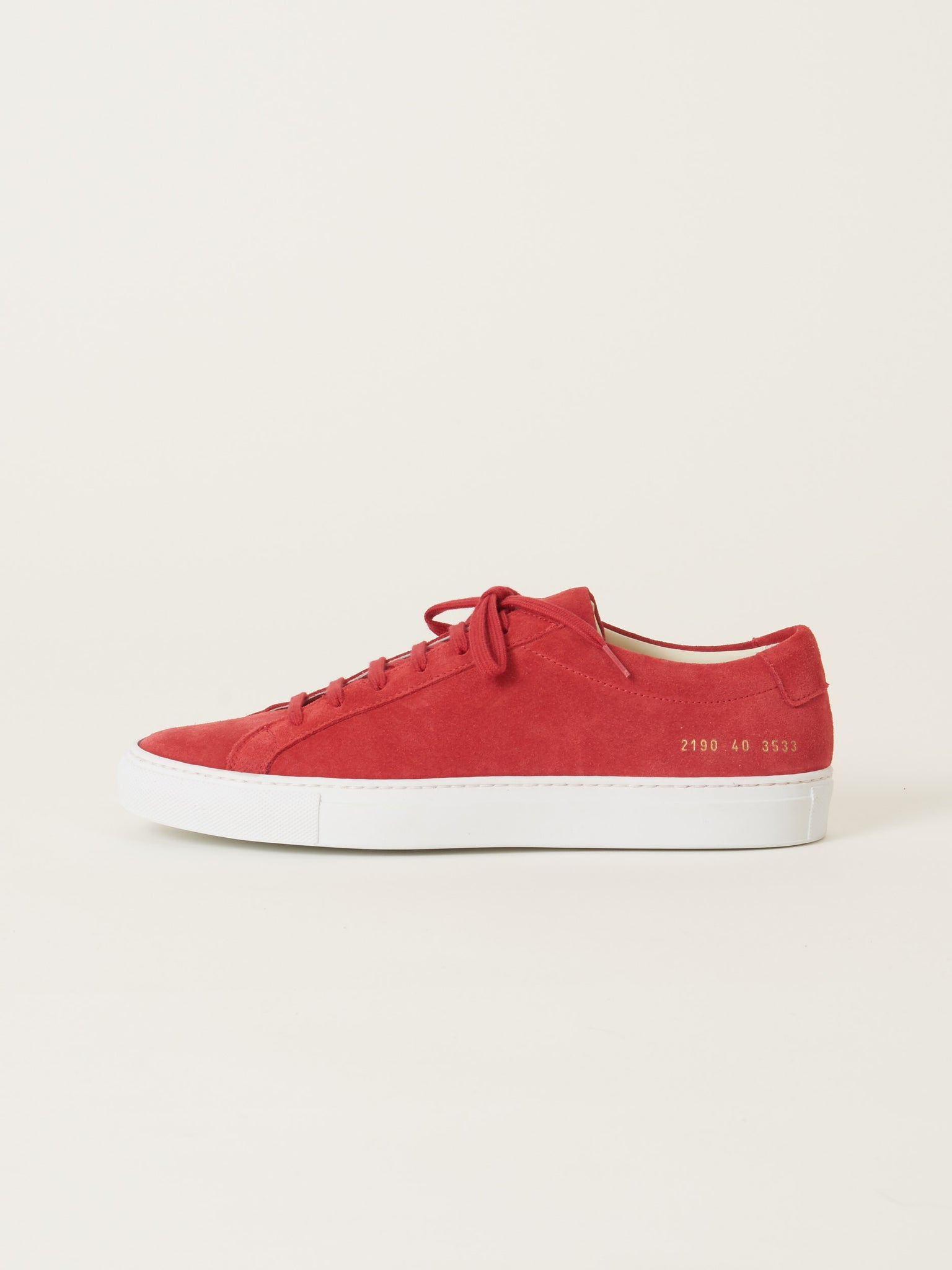 14733df02c2a common-projects-Red-Original-Achilles-Low-Suede-on-