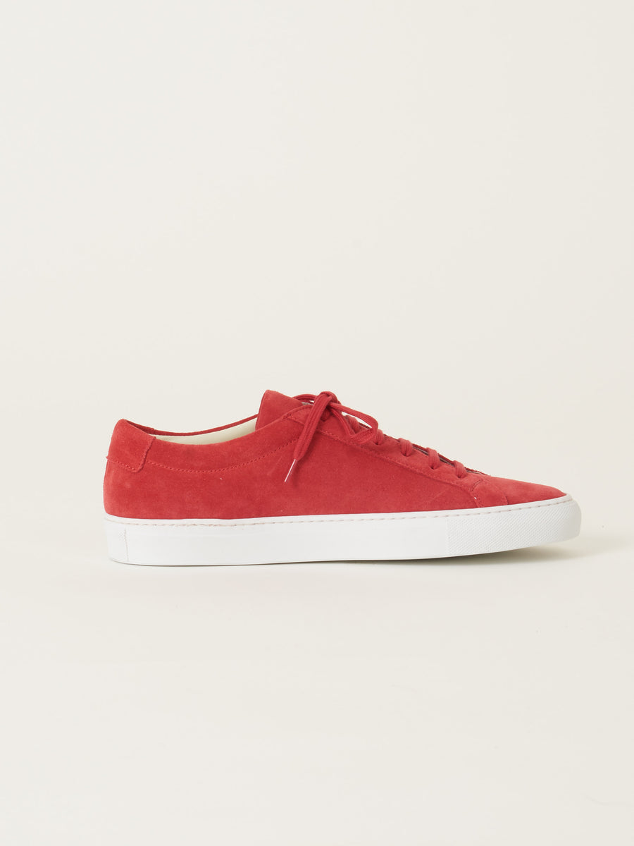 common-projects-Red-Original-Achilles-Low-Suede-on-body