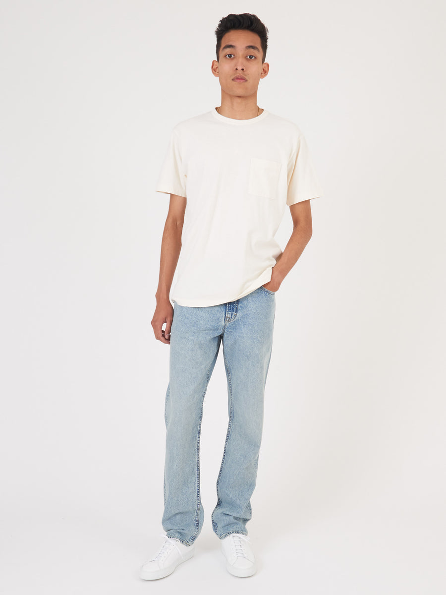 Natural Heavy Duty S/S Single Pocket Tee