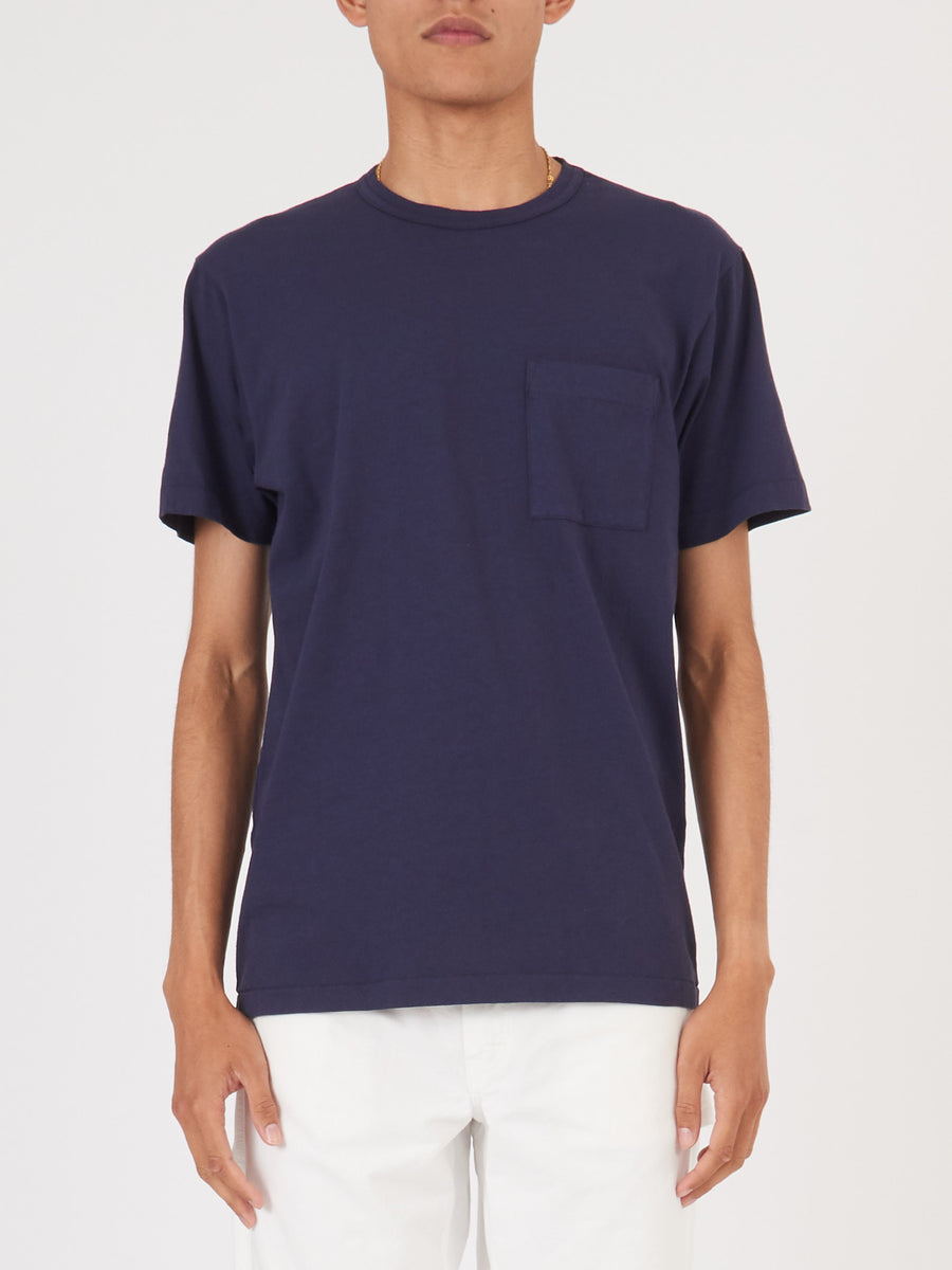 Navy Heavy Duty Pocket Tee