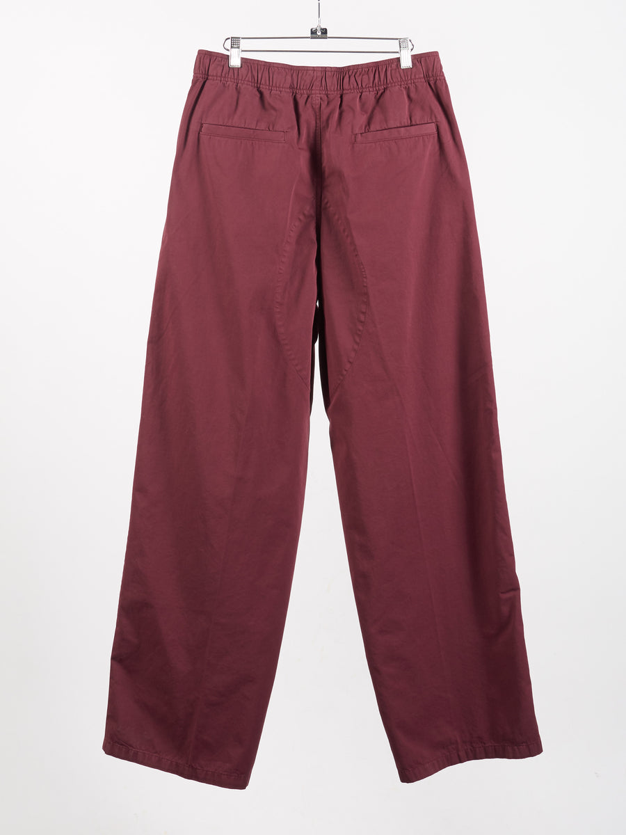 Burgundy Patch Pocket Trouser
