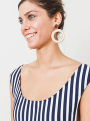 Bone/Brown Lami Earrings