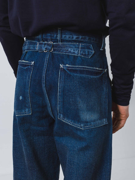 Denim Cinch Back Trouser