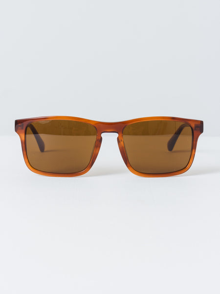 Vuarnet - Pure Brown Large Rectangle District Sunglasses