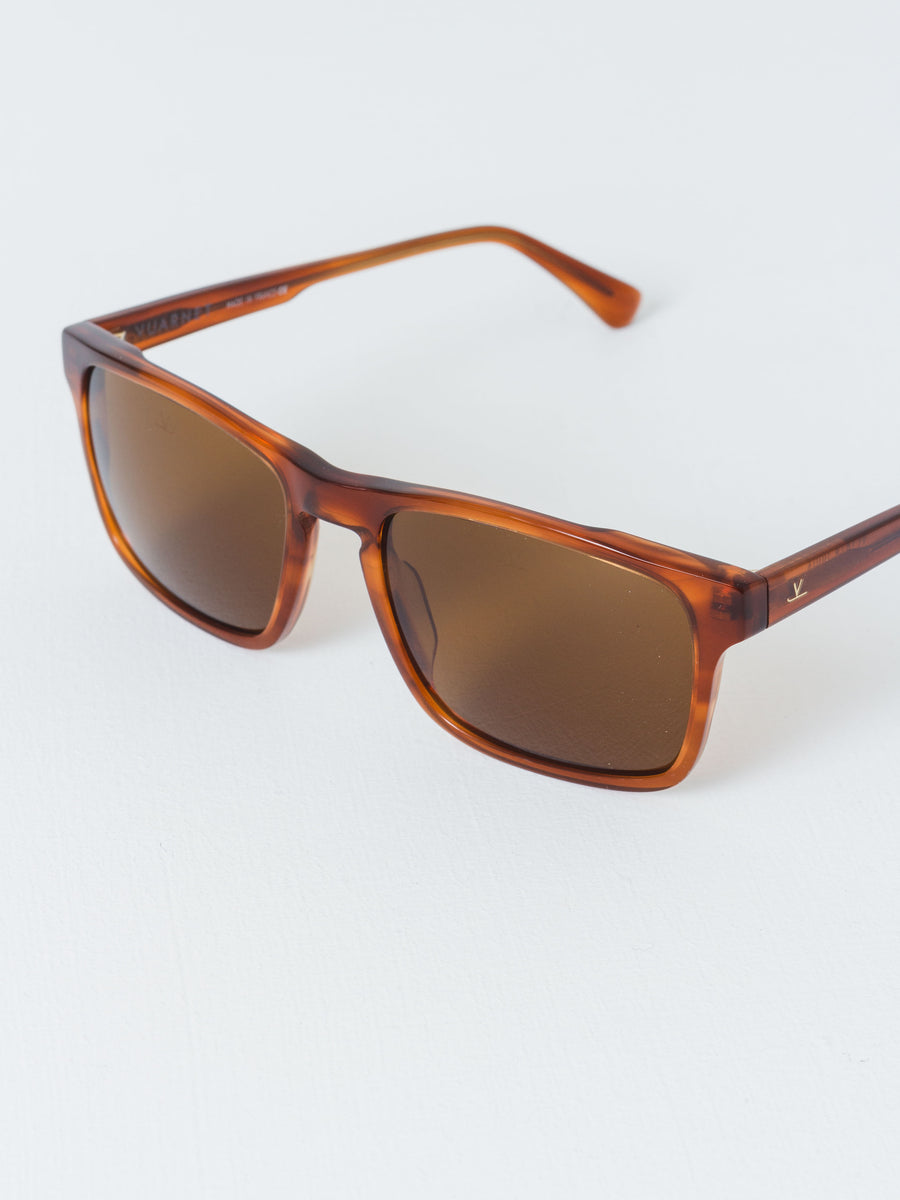Pure Brown Large Rectangle District Sunglasses