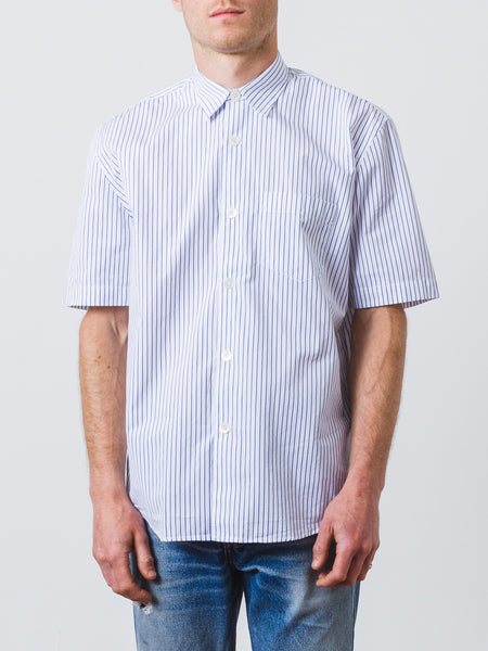 Our Legacy - Blue Stripe Initial Shirt