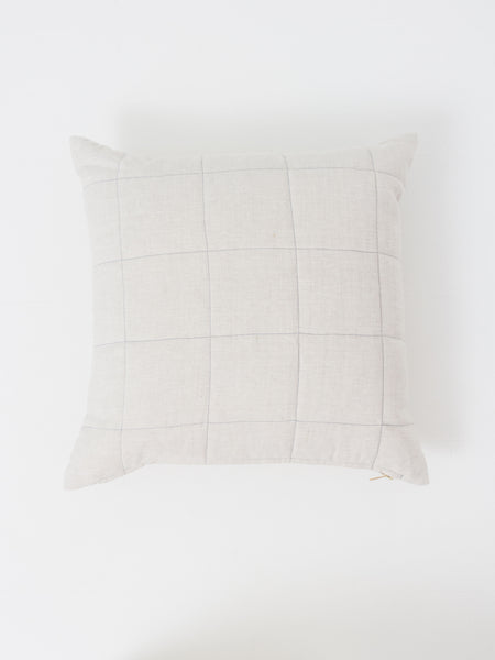 Caroline Z Hurley - Natural Grid Pillow