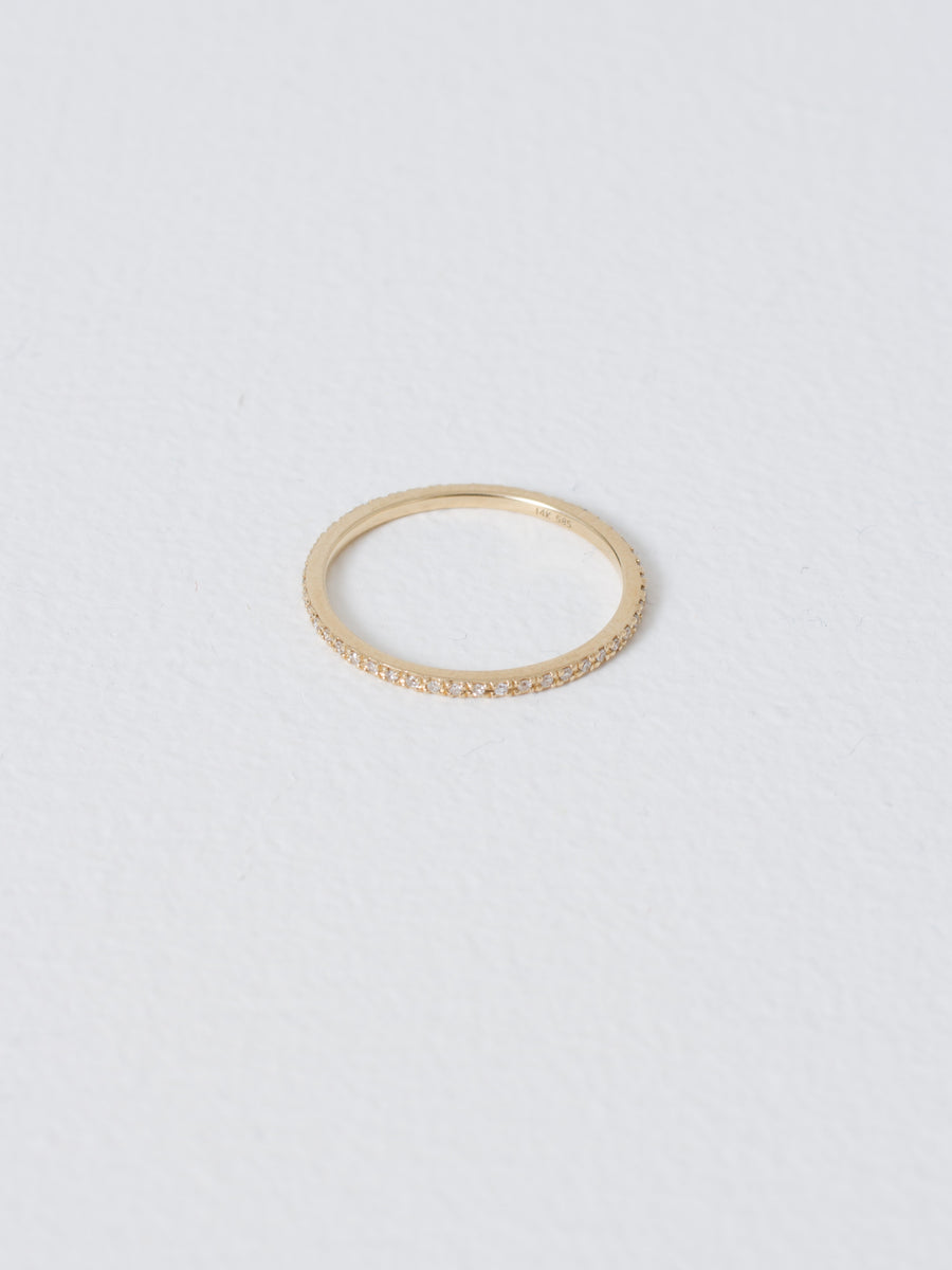 Yellow Gold/White Diamonds Axis Ring