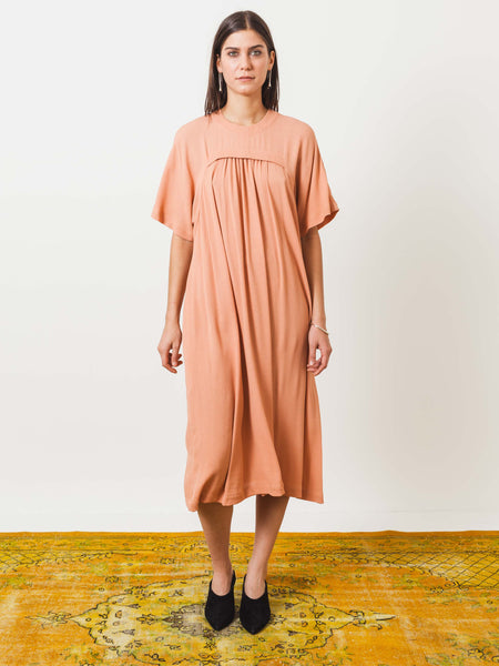frances-may-houseline-cantaloupe-t-dress-on-body