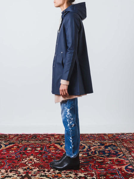 Navy Mosebacke Raincoat
