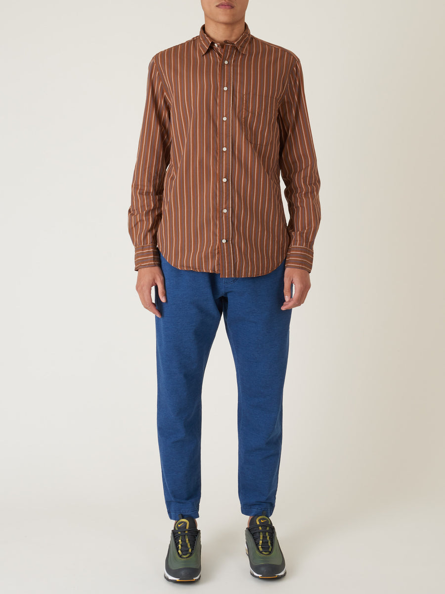 gitman-Brown-Stripe-L/S-Shirt-on-body