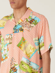 gitman-Orange-Hokusai-S/S-Shirt-on-body
