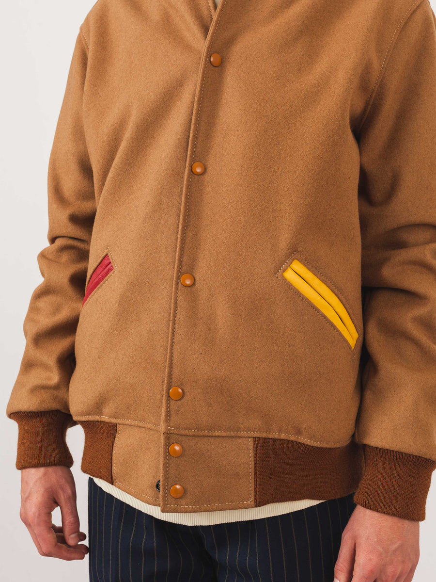 last-heavy-Caramel-Wool-Bomber-on-body