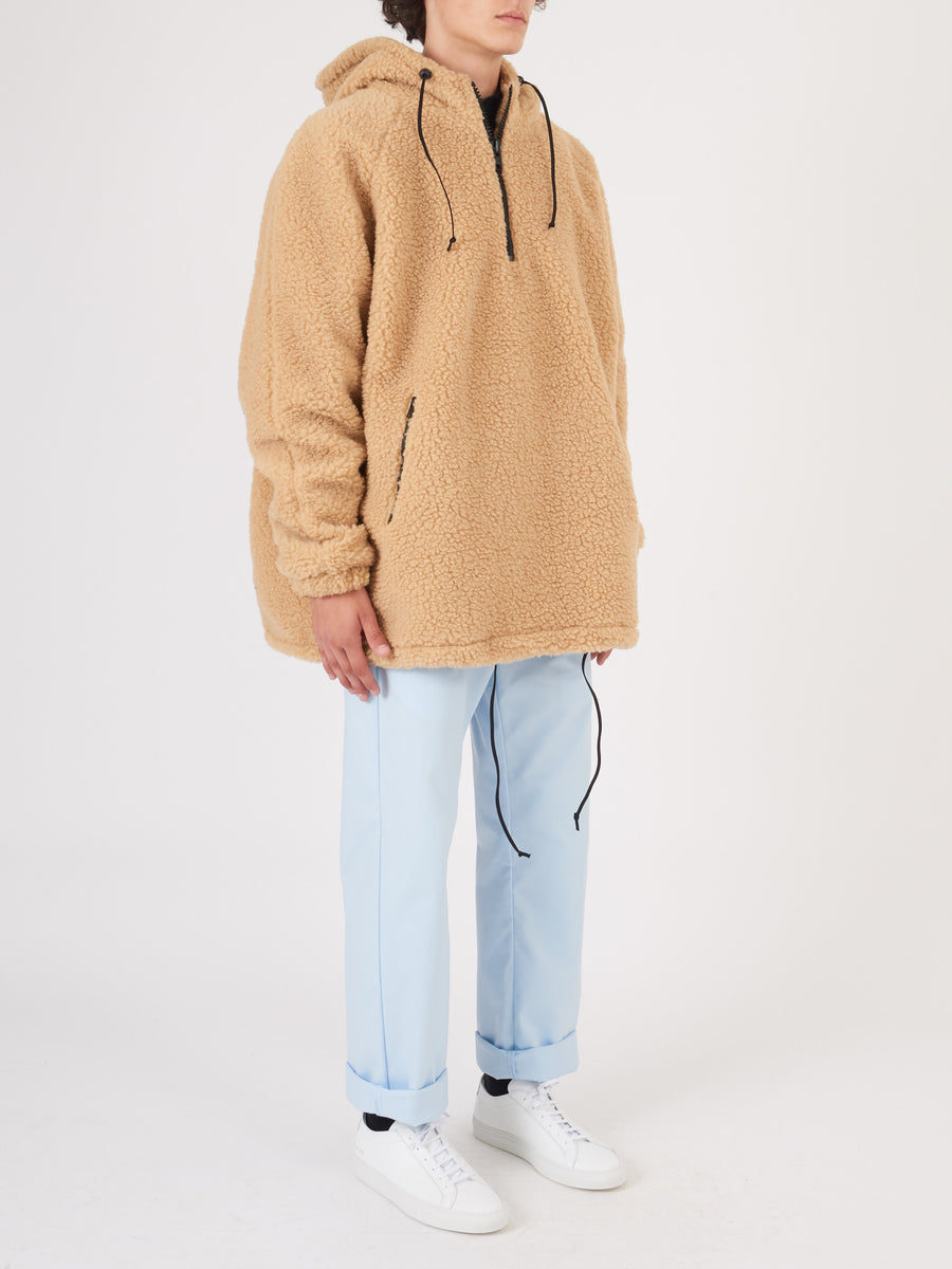 last-heavy-Tan-Pullover-Jacket-on-body