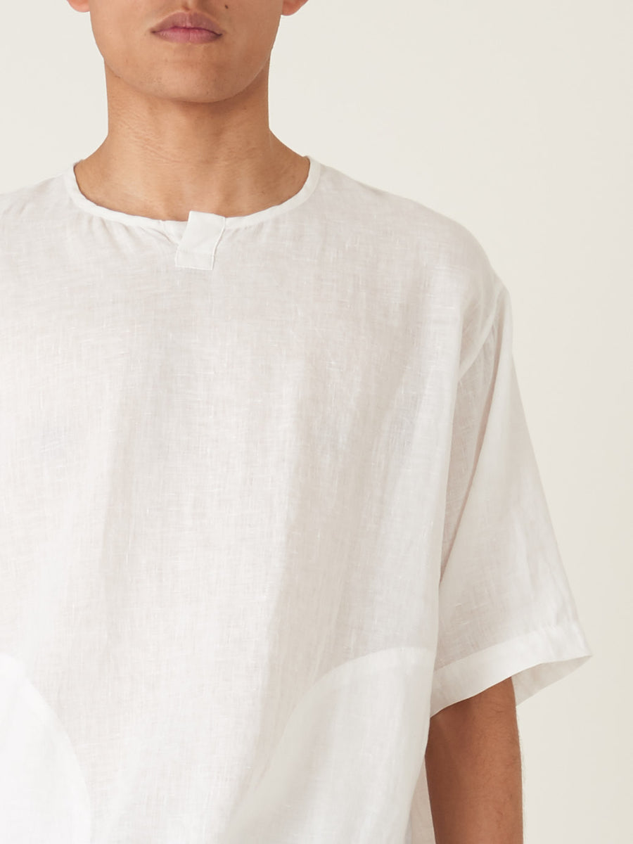 monitaly-White-S/S-Crew-Henley-Pullover-on-body