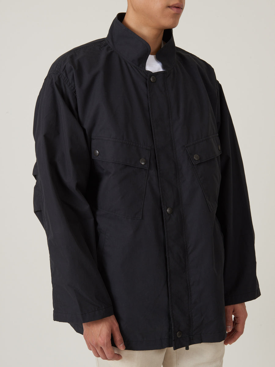 needles-Black-Chemical-Protective-Jacket-on-body