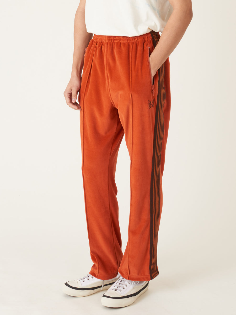 needles-Brick-Velour-Narrow-Track-Pant-on-body