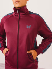 needles-Maroon-Track-Jacket-on-body