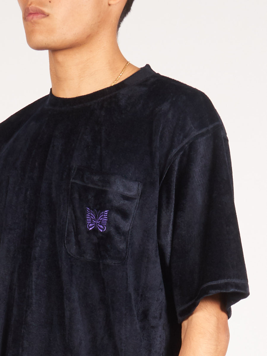 needles-Navy-Embroidered-Pocket-Tee