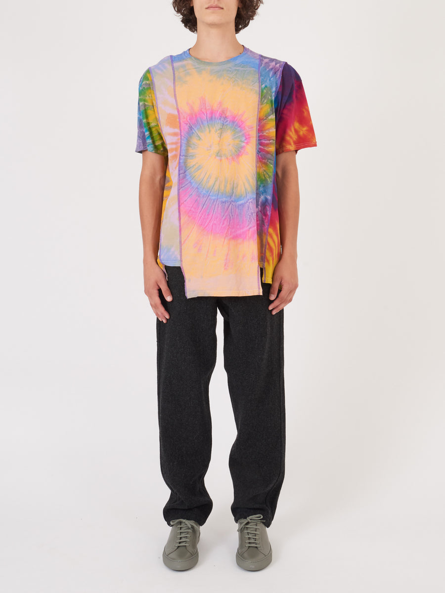 needles-Tie-Dye-5-Cuts-S/S-Tee-on-body