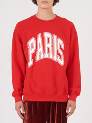 noon-goons-Red/White-All-City-Paris-Crewneck-on-body