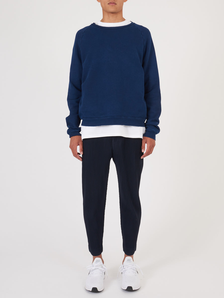 Navy Indigo Crew Neck Sweatshirt