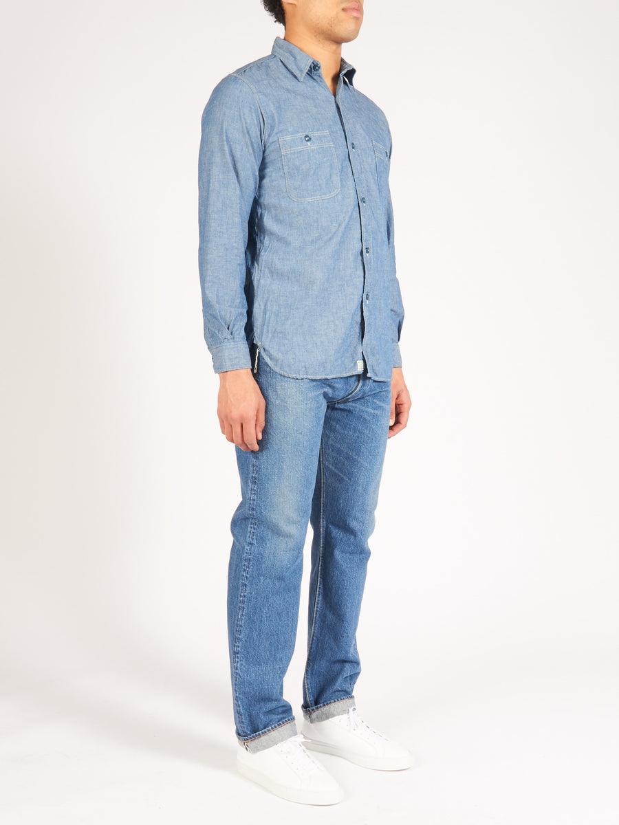orslow-Chambray-Work-Shirt