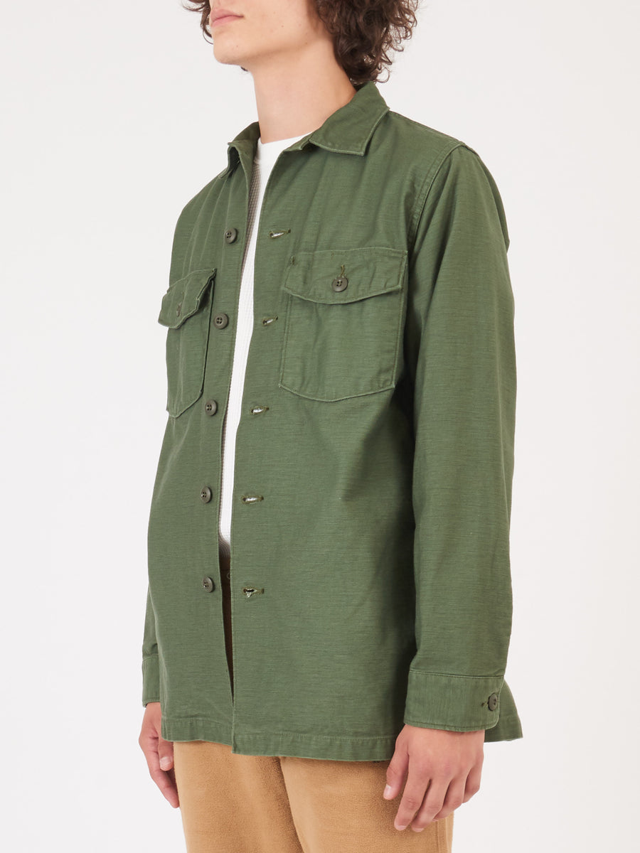 orslow-Green-US-Army-Shirt-on-body